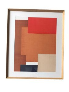 Quadro Decorativo Com Pintura Abstrato Q8499T