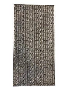 Passadeira Trançada Prata- 1,00 x 0,50cm