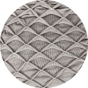 Manta De Tricô Origami Cru 050-01 - 0,90 x 2,20
