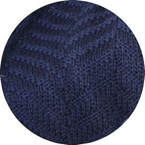 Manta De Tricô Azul Marinho 049-06 - 0,90 x 2,20