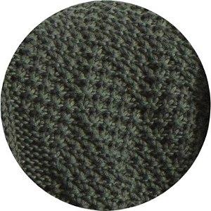 Manta De Tricô Verde Musgo 049-05 - 0,90 x 2,20