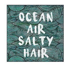 QUADRO DECORATIVO - OCEAN AIR SALTY HAIR