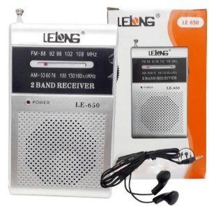 Rádio Portátil Lelong AM/FM LE-650