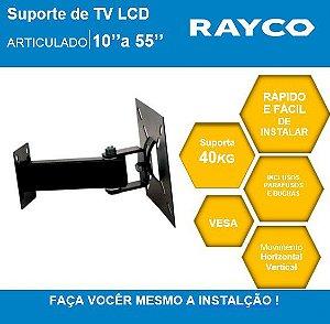 """SUPORTE P/ TV RAYCO ARTICULADO 10"""" A 55""""  14935"""