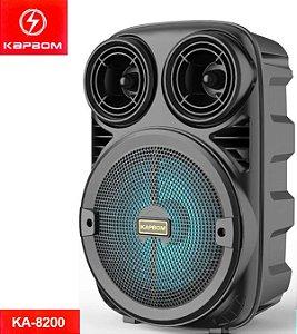 Caixa amplificada Kapbum  BT/FM/USB/AUX 5W KA-8200 Acompanha Microfone