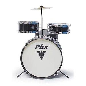 Bateria Musical Infantil  PHX 14 PRETA