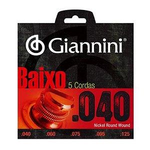 Encordoamento Contrabaixo Giannini 5 cordas Geebrl5