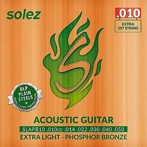 Encordoamento Violão Solez 010 Bronze SLAPB10