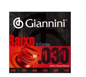 Encordoamento Contra Baixo Giannini GEEBRL6  6 cordas