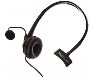 Headset Com Conector Rj09 P/ Telemarketing Multilaser - PH251