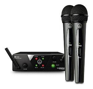 Microfone Duplo S/fio Akg Wms 40 Pro Mini Dual