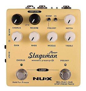 Pedal De Efeito Pré-amp E Di Para Violão - Stageman Floor Nap-5 - Nux