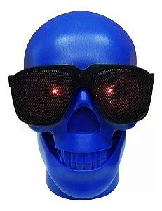 Caixinha De Som Bluetooth Caveira Recarregável Fm Usb Aux Sd
