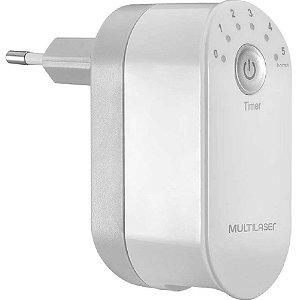 Carregador de Parede 2 Portas USB 2,4A com Timer e Plug Dobrável Branco Multilaser - CB139