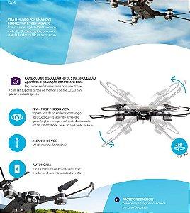 Drone Multilaser Eagle com Controle Remoto Preto - ES256