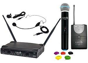 Microfone sem Fio de Mão / Headset / Lapela e Instrumento UH- 02MHLI Lyco