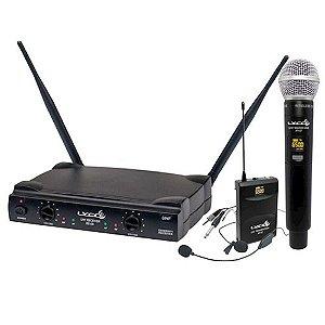 Microfone Sem Fio Headset Lyco UH08 MHLI Profissional