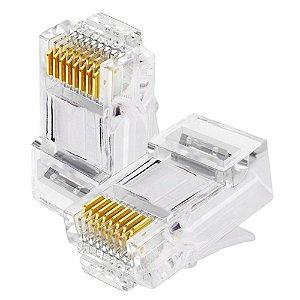 Conector RJ-45  8P8C rede  p/clip Unidade
