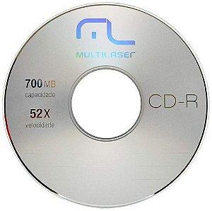 CD-R  Mídia Virgem Multilaser 52x