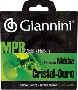 Encordoamento Violão Giannini GENWG nylon tensão média