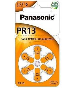 Bateria para aparelho auditivo PR-48 Tamanho-13  c/6 unidades