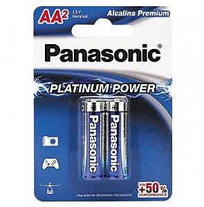 Pilha Panasonic Alcalina Premium AA  C/2 unidades