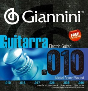 Encordoamento para Guitarra Giannini geegst10  010