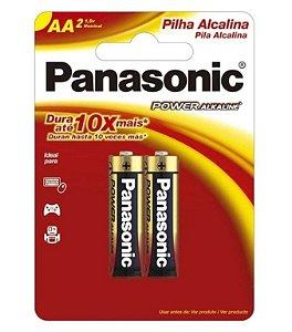 Pilha Panasonic Alcalina Pequena AA Par