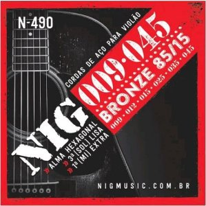Encordoamento NIG 09/42 Guitarra N-63