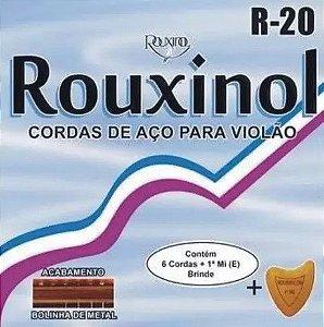 Encordoamento p/ Violão Rouxinol R-20 aço c/bolinha 011