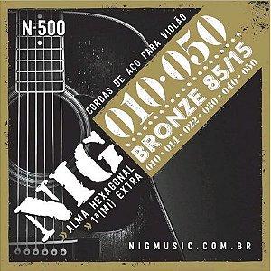 Encordoamento 010 Violão Aço NIG N-500