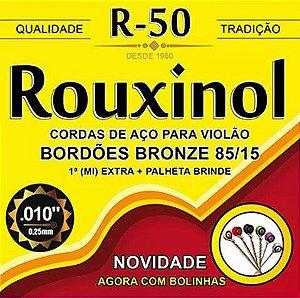 Encordoamento p/ Violão Rouxinol R-50 aço c/bolinha 010