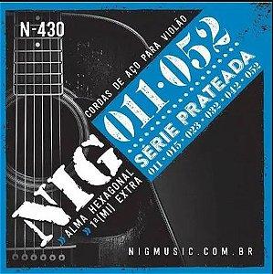 Encordoamento Violão Aço NIG Série Prateada .011/.052 - N430