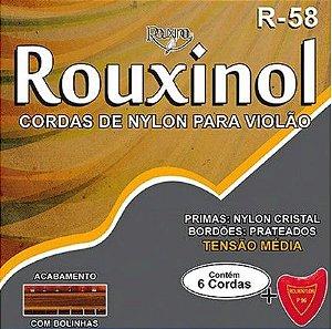 Encordoamento p/ Violão Nylon rouxinol Tensão Média R-58
