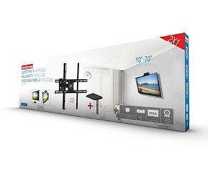 """Suporte ARTICULADO para TV LED, LCD de 10"""" a 70"""" – Brasforma SBRP 430 + Suporte para Conversor"""