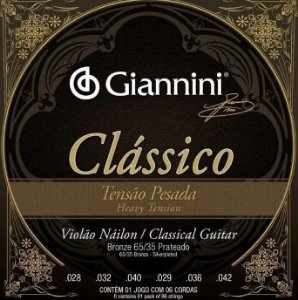 Encordoamento p/ Violão GianniniI GENWPA Tensão Alta
