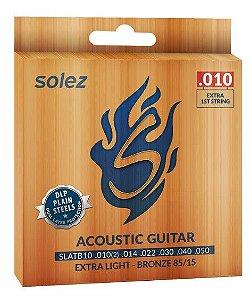 Encordoamento p/ Violão Solez Extra Light- Bronze SLATB10