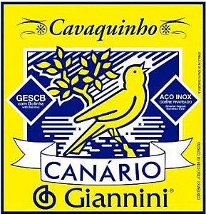 Encordoamento Canario Giannini Cavaquinho Aço GESCB