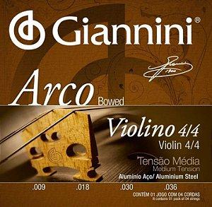 Encordoamento p/ Violino Giannini GEAVVA