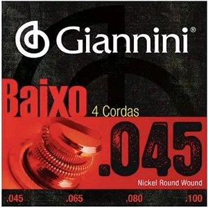 Encordoamento Para Baixo Giannini 4 Cordas 045