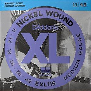 Encordoamento p/  Guitarra D'addário EXL-115-B  011