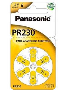 Bateria P/ Aparelho Auditivo PR-70/230 Tamanho 10  c/6 unidades