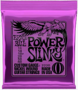 Encordoamento para Guitarra Ernie Ball Power Slinky 011 ER2220