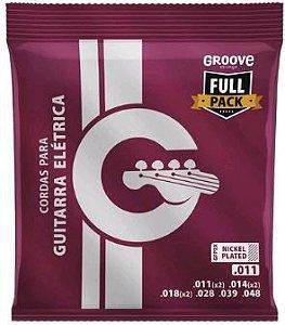 Encordoamento Guitarra Groove Solez 011 Full Pack GFP2X