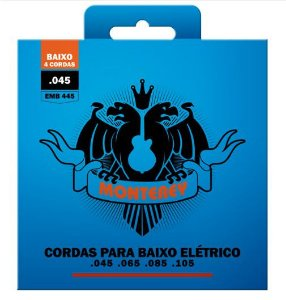 Encordoamento p/ Contra Baixo 4 Cordas Monterey 045 EMB445
