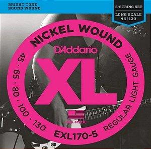 Encordoamento p/ Contra Baixo 5 cordas D'addário XL 045 EXL170-5