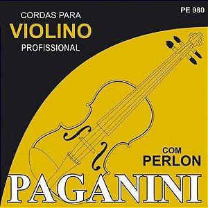Encordoamento Profissional Pagnini  p/ Violino com perlon PE980