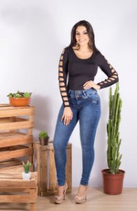 Calça Jeans Stretch Legging