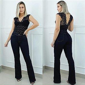 Calca Jeans Flare Escura