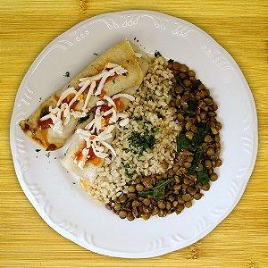 Panqueca recheada com legumes (vegetariano)
